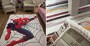Ev hanımlarının yeni modası halı örtüsü